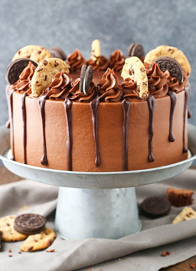 Oreo Brookie Layer Cake Recipe