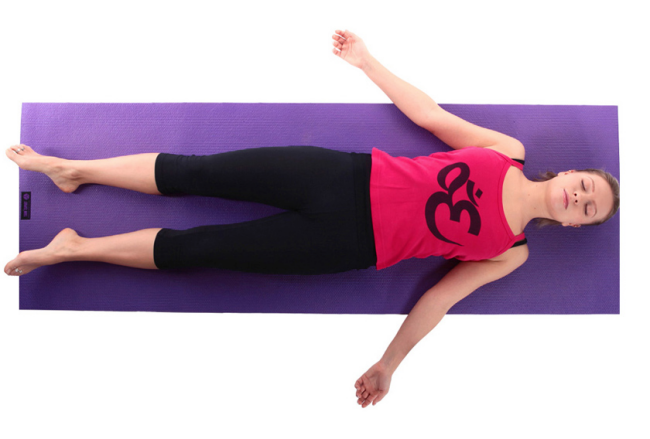 Corpse Pose to Improve Digestion