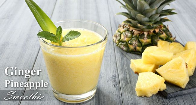 Ginger Pineapple Smoothie Recipe