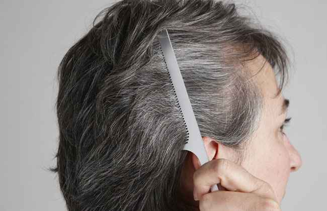 Your hair doesn't turn gray — it grows that way